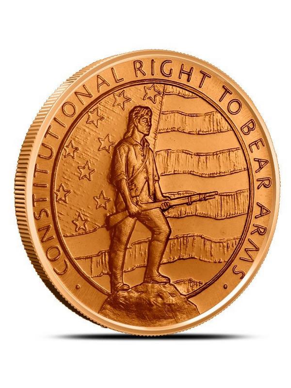 1 oz Copper Round 2nd Amendment