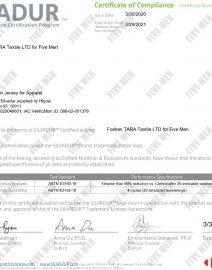 Certified Antimicrobial Silvadiur Fabric